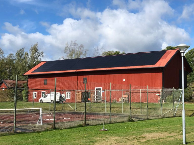 Solcellsanläggningen igång!